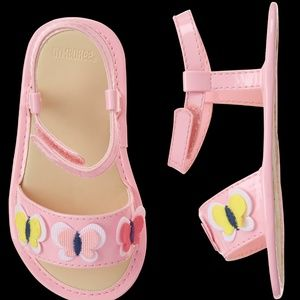 Gymboree Baby Girl Butterfly Sandals Pink Size 03